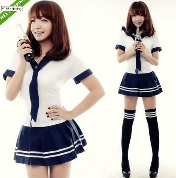New Japanese School Girl Sailor Uniform Cosplay Costume Skirt And Blouses  Set Womens Halloween Costumes Cat Costumes From Aqueen, $30.05
