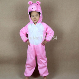 Wholesale Children Animal Pink Pig Costumes For Kids Halloween Christmas Party Cartoon Character Costume Cosplay Performance Clothes