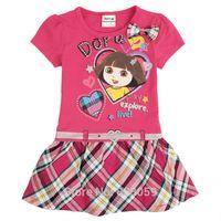 Wholesale Dora dress baby girl Dress Kid Clothing Children s Wear NOVA Fashion Summer dress for Girls Toddler Princess Dresses