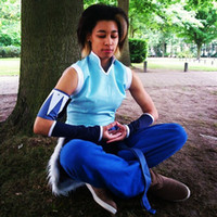 avatars games - Custom Cheap blue Korra Cosplay Costume from Avatar the Last Airbender