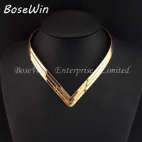 africa north - North Africa Popular Torques Collar Chokers Fashion Layer Bright Metal Weld Bib Women Necklaces Statement Jewelry CE2524