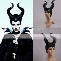 act games - Maleficent Evil Queen Black Angelina Jolie Act Cosplay Hat