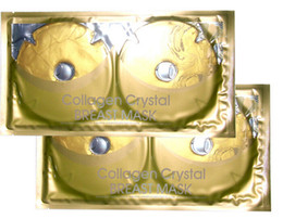 Wholesale Crystal Collagen breasts Mask pleura Gold Water nourish plump breasts care collagen pakages