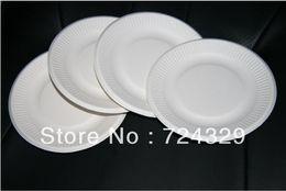 "Wholesale-white 6"" Paper Cupcake Tray 200pcs Paper Cake Tray Plate Dinner Plate Cake Cup Candy Cake Fruit Plates free shipping"