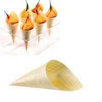 bamboo plates disposable - quot quot wooden bamboo Cone bowl dish natural plate Disposable wood tableware sushi