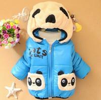 baby panda china - Cheap china clothes New winter baby boy and girl cotton jacket toddler kids cartoon panda warm coats For year old