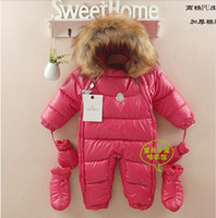 baby snow coats - new arrive baby clothing baby winter suit solid outward infant snowsuit baby snow wear children outerwear