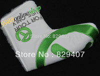 Wholesale New Golf Cover FOR TOUR Golf Putter Cover White Green Can mix color golf club Cover