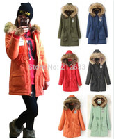 Cheap Wholesale-Sale Discount UK 2015 Winter Parka Women Coat Fur Hooded Down Jacket Mint