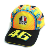 Wholesale New Style VR46 Rossi Snapback F1 Car Racing Car Baseball Cap Motorcycle Embroidery Fans Running Cotton Hat Cap