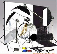 Wholesale 4 Studio Light W Photography Studio flash Kit Muslin Backdrop Support Carolculture