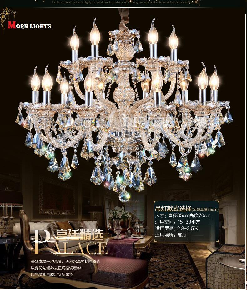 Discount modern chandelier lighting top k9 crystal for Inexpensive chandeliers for dining room
