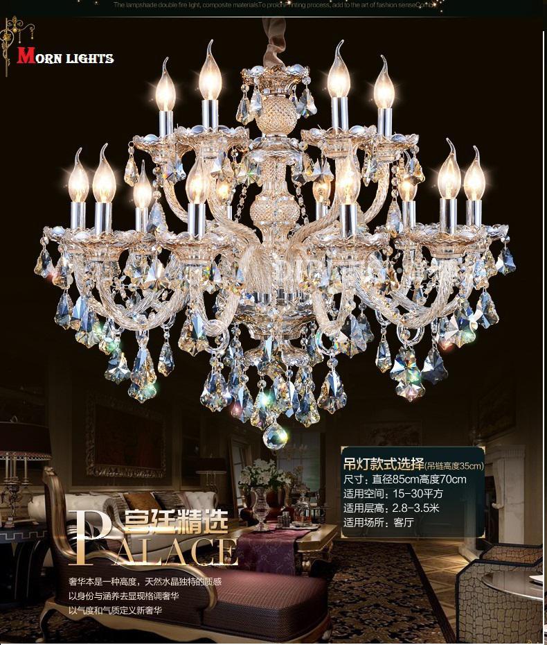 Discount modern chandelier lighting top k9 crystal - Inexpensive chandeliers for bedroom ...