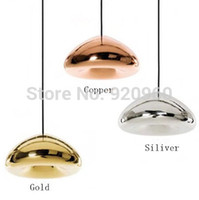 Wholesale Tom Dixon void light Minimalist Modern Creative Art Glass Lamp Brass bowl Pendant Light Restaurant Cafe Bar Station Lamp