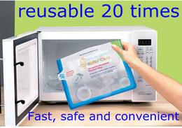 Wholesale Bottle microwave sterilizer bag steam guard reusable times per bag fast safe convenient nipple breast pump portable