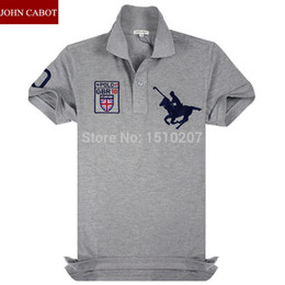 Wholesale Sale Cotton Sport Mens Polo shirt Top Quality Man s Clothing Short Sleeve Mens Tops Brand JOHN CABOT POLO Men Shirt
