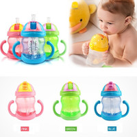 sippy cups - ML High Quality Cute Baby Cup Feeding Drinking Straw Bottle Sippy Training Cup mamadeira
