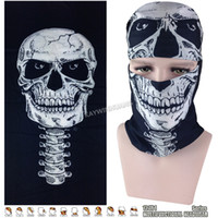 bandana with skulls - EXPRESS SHIPPING Fashion Large Skull With Neck Magic Scarf Beanie Tubular Headwear Multifunction Bandana