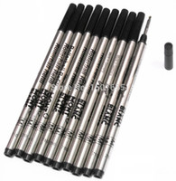 ball pen refills - High Quality MM Black Ink Refill For Roller Ball Pens Smooth Rollerball Writing Pen Refills