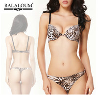 bc printing - New Balaloum Brand Leopard Bra Sets Sexy Women Underwear Set Push Up BC Bra and Panty Set seamless lingerie set BS257