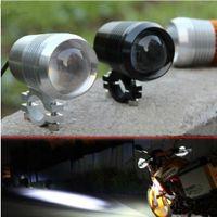 atv strobe lights - Moto v v W Cree U2 Motorcycle led Driving Light fog lamp with lens Headlight Offroad Car ATV SUV Spotlight with Strobe