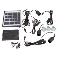 home solar power system - W Solar Powered Panel LED Light Lamp USB V Mobile Phone Charger Home System Kit Garden Pathway Stair Camping Fishing Outdoor