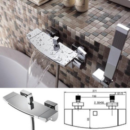 Wholesale Luxurious Design Brass Construction Chrome Finished Wall Mounted Waterfall Tub Faucet sensor faucet