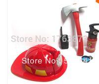 Precio de Fire extinguisher-Mayor-Libre del envío del nuevo extintor walkie talkie hacha sombrero de bomberos de juguete casco llegada Fuego brújula