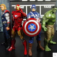 Wholesale pc set The Avengers cm marvel Captain America Thor hulk Iron man the Action Figures Toy Gifts Toys Action Figures