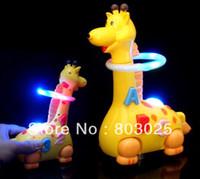 kids hula hoop - Novelty Electronic Giraffe Turning The Flash Hula hoop Baby Electronic Animal Pet Toy Promotional Gift For Kids