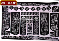Wholesale India henna tattoo templates tattoo stickers waterproof disposable temporary body paint wholesaling stencils for painting
