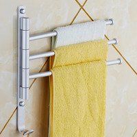 aluminium hangers - Swivel Bars Rotary Bar Wall mounted Bathroom Accessories Kitchen Towels Holder Hanger Aluminium Towel Rack Prateleira