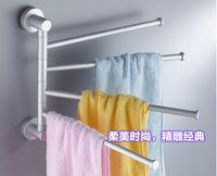 Wholesale Bathroom Accessories Brief Alloy Towel Racks Convenient Silver Towel Holders Rack RA30140