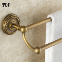 antique brass towel bar - Antique brass Bathroom double towel bar cm double layer bathroom towel holder