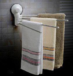 Wholesale New Swivel Bars folding movable bath tower bar Wall Mounted Bathroom Towel Rail Rack Bath Room Holder Hanger