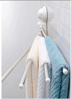 Wholesale Modern Chrome Brass Wall Mounted Bathroom Towel Rack Holder Swivel Towel Bars