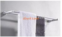 Wholesale new Bathroom accessories Space aluminum double towel bars towel rack towel hanger F