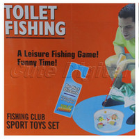 Wholesale New Cute Novelty Men Gift Popular Potty Fisher Fun Toilet Game Bathroom Fishing Set for Children