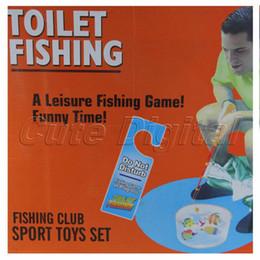 Wholesale New Cute Novelty Men Gift Popular Potty Fisher Fun Toilet Game Bathroom Fishing Set for Children