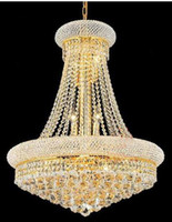 Wholesale Modern Chrome Crystal Chandelier Classic Gold Crystal Chandelier Light Fixtures Gold Or Chrome Guaranteed