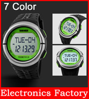 calorie counter watch - SKMEI m Heart Rate Monitor pedometer Sport LED watches Wristwatch Reloj Calories Relogio for digital counter
