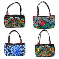 Wholesale Fashion Women Handbag Ethnic Fusion Style Colorful Embroidered Cloth Embroidered Handbag Totes Purse x11x16cm