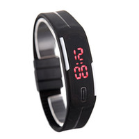 adjustable rubber straps - New Arrival Fashion Sport LED Watches Candy Color Adjustable Silicone Strap Digital Watches Waterproof Bracelet Wristwatch