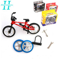 children bmx bicycle - New Fashion Novelty Gadget Kid s Toys Alloy Stand Finger Bike Bmx With Tool Pretty Box Children s Finger Bicycle