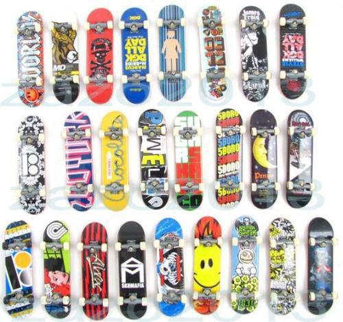 Wholesale random style tech decks finger skateboards trucks techdeck loose mini longboard finger - Tech deck finger skateboards ...