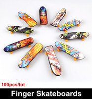 Wholesale pieces Toys amp Hobbies Novelty Hip Hop style Finger Skateboards Classic toys for children Finger scooter