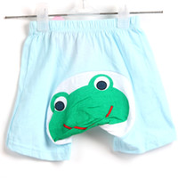 Wholesale Summer NewBorn Baby Toddler Girl Boy Shorts Candy Colors Cartoon Big PP Trousers Cotton Pants