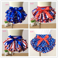baby patriots jersey - New th of July baby girls patriots jersey satin bloomers infant toddler summer shorts diaper cover