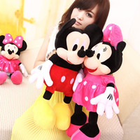 minnie mouse plush - Piece cm Lovely Red Mickey Mouse Or Pink Minnie Mouse Stuffed Animals Plush Toys For Children s Gift X1073