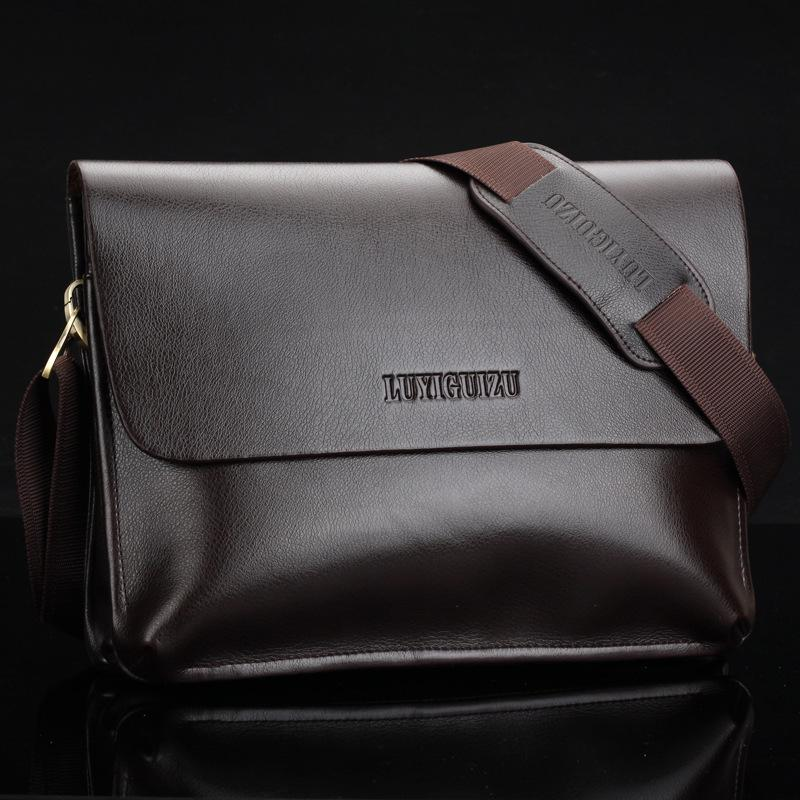 Wholesale-Men's Genuine Leather Handbag Messenger Bag Briefcase ...